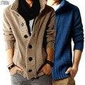 Бесплатная доставка мужская Кардиган утолщение свитер мужской свитер мужской свитер зимой верхняя одежда