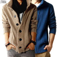 Free shipping Men's Cardigan thickening sweater male sweater men's winter sweater outerwear