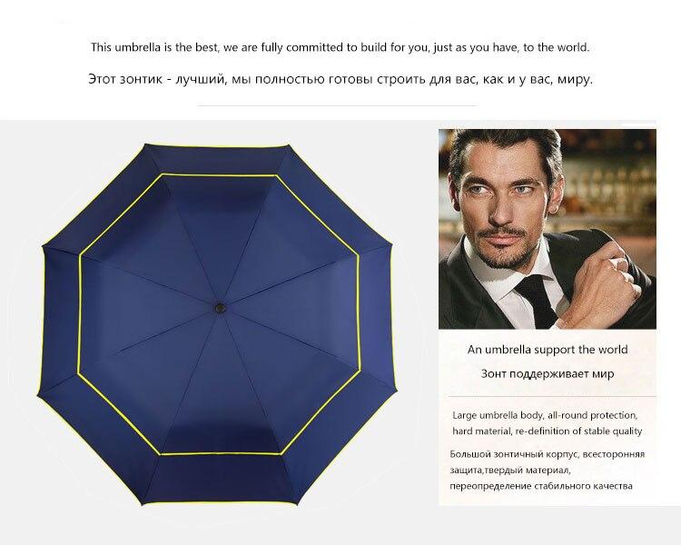 1131839f1788f Brand Large Folding Umbrella Men Rain Woman Double Golf Business Gift  Umbrella Semi-Automatic High Quality Windproof Umbrellas - us173