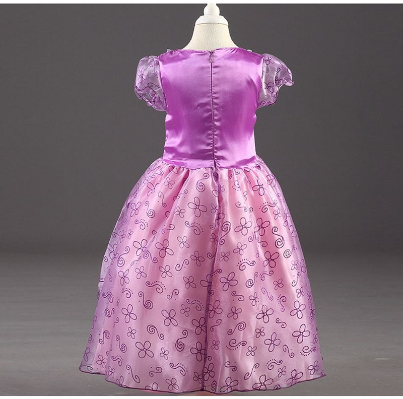 HTB1Mkd4Kf5TBuNjSspmq6yDRVXaY Send crown Baby Girls Dress Christmas Anna Elsa Cosplay Costume Summer Girl Princess Dress for Birthday Party Vestidos Menina