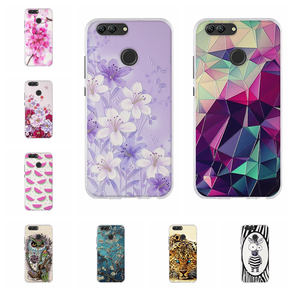 3D Stereo Painted Case For Huawei Nova 2 Case Relief Pattern Soft TPU Cover Phone Back For Huawei Nova 2 PIC-AL00 Cartton Shells