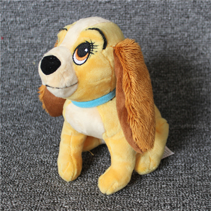 New 18cm Lady and The Tramp Dog Plush Toy Animal Stuffed Mini Dog Gift stuffed animal 44 cm plush standing cow toy simulation dairy cattle doll great gift w501