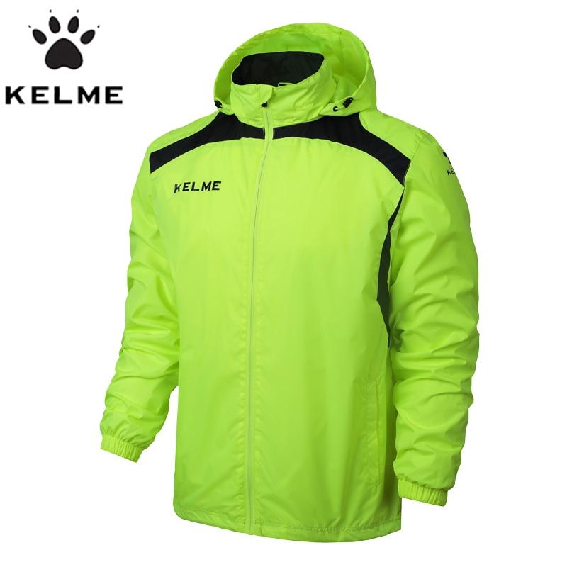 KELME Sports Men Soccer Jersey Jacket Outdoor Sports Men Running Jacket Training Exercise Jacket Windproof Clothing