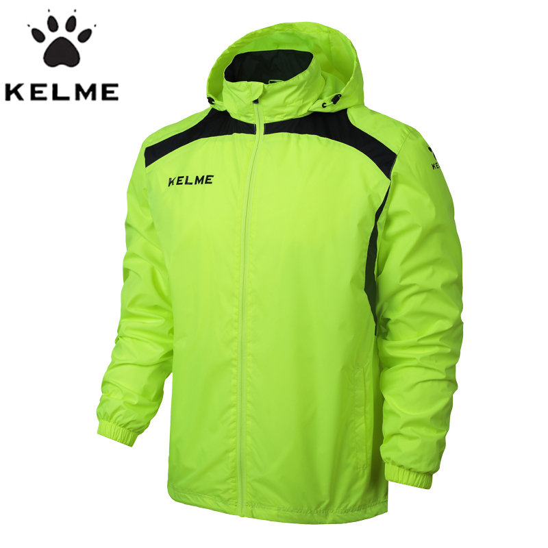 KELME Sports Men Soccer Jersey Jacket Outdoor Sports Men Running Jacket Training Exercise Jacket Windproof Clothing coatK15S605 Куртка
