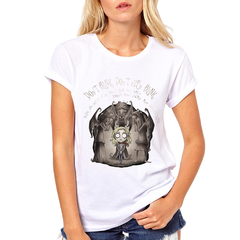 Womens T Shirt Short Sleeve The Girl Who Waited Doctor Who T-shirts Funny cartoon Tshirts Top Tees