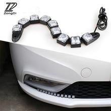 ZD 2 шт. автомобиль светодиодный дневные огни 12В DRL Противотуманные лампы для Mercedes W203 W211 W204 W210 Benz BMW F10 E34 E30 F20 X5 X6 E70 аксессуары