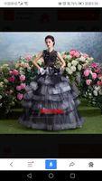 Красное вино бабочка slleve Черная кружевная вуаль сказочное длинное платье средневековое платье Викторианский Бал сценическое представлени