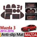Противоскользящий резиновый коврик для Mazda 3 Axela BM 2014 2015 2016 MK3  предварительно закрывающие края аксессуары  автомобильные наклейки 12 шт./компл...