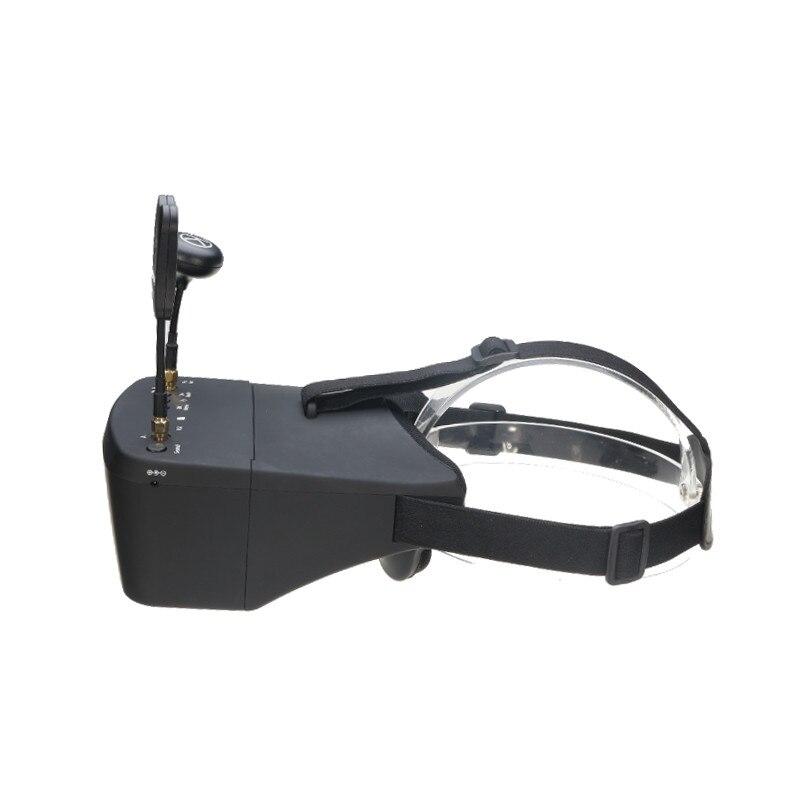 En Stock!! Eachine EV800D 5.8G 40CH 5 pouces 800*480 casque vidéo HD DVR diversité FPV lunettes avec batterie pour modèle RC - 2