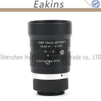 75mm 10MP Aperture F2.8 F16 1 Industrial CCTV Lens C Mount Lens For Ecurity CCTV Camera Surveillance Camera