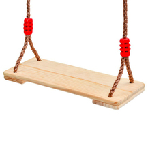 Outdoor Wooden Swing Set with Rope for Children Fairy Garden