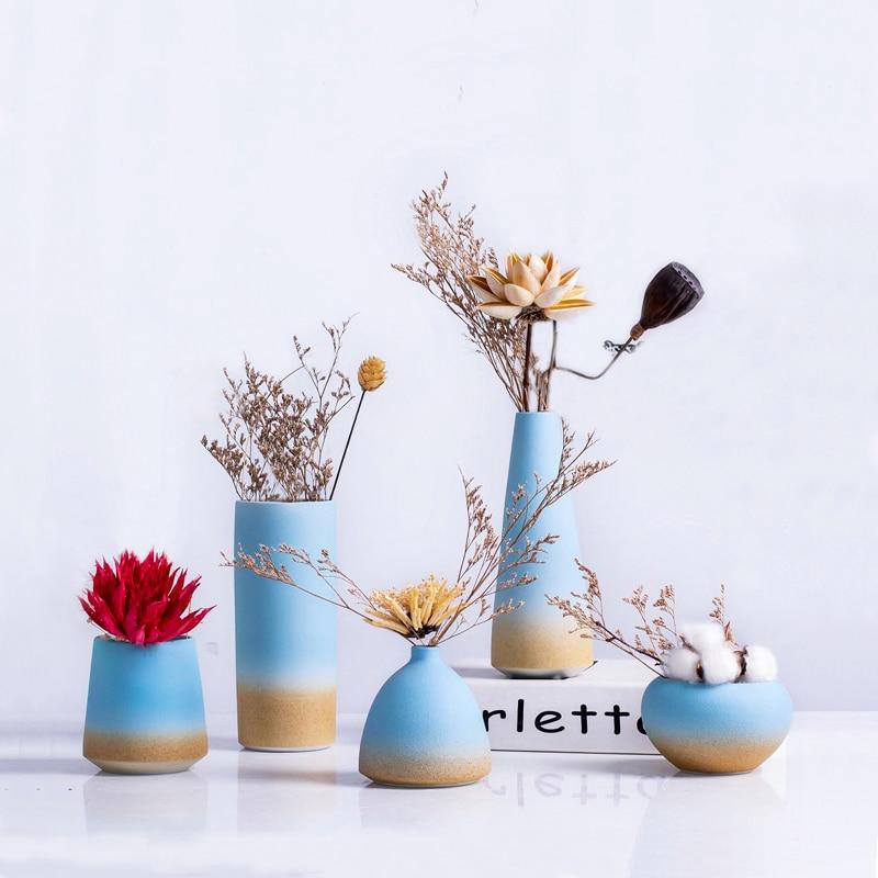 Fresh Mini Ceramic Small Vase Home Decor Gift Ideas And: Nordic Decoration Ceramic Miniature Small Mouth Vase Dried