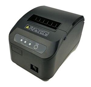 Image 1 - Высокое качество 80 мм POS термопринтер чеков, автоматическая режущая машина, скорость печати, USB + порт последовательного/Ethernet, можно выбрать
