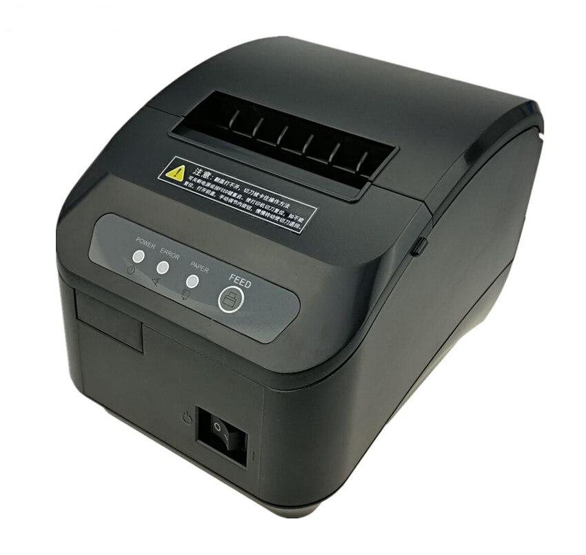 Alta qualidade 80 milímetros POS impressora de recibos térmica máquina de corte automático de velocidade de impressão Rápida USB + Serial/porta Ethernet pode escolher
