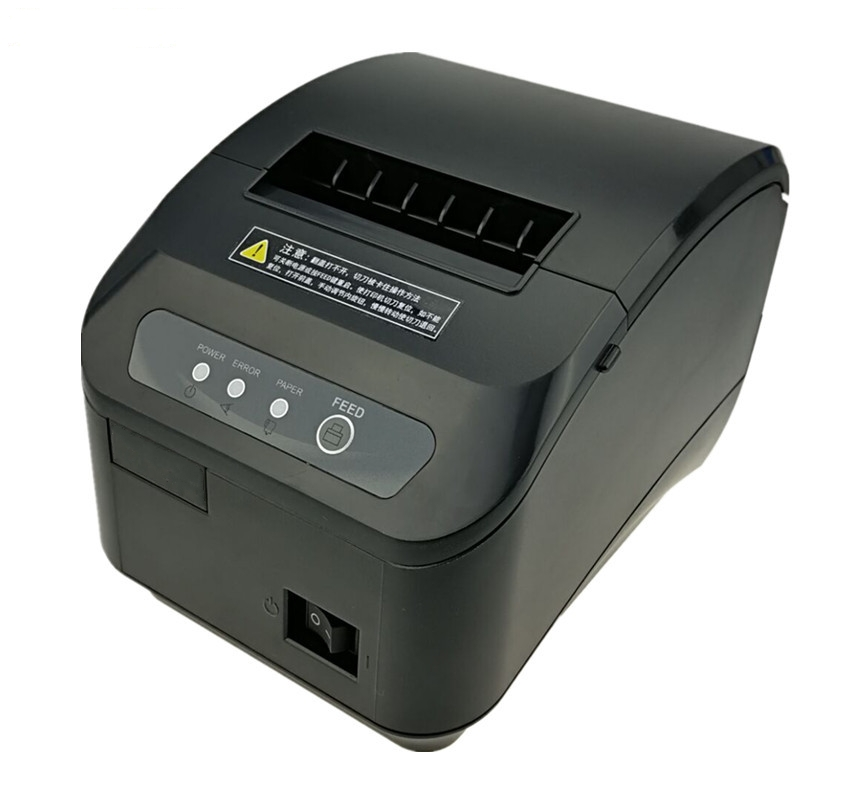 High quality 80mm POS thermal receipt printer automatic cutting machine printing speed Fast USB+SerialEthernet port can choose
