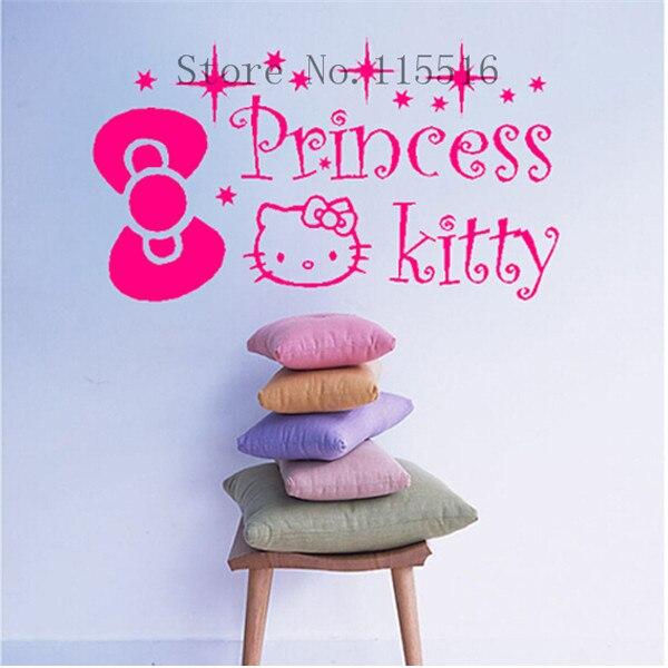E Hello Kitty Princess Gift Personalised Custom Name Wall - Hello kitty custom vinyl stickers