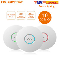 10PCS COMFAST WIFI Router 300M Wireless Ceiling AP Openwrt WiFi Access Point AP 6dbi Antenna 48V POE Wi fi Signal Amplifier AP