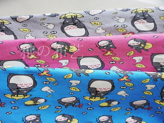 Cartoon Japanese Cotton Polyester Canvas Fabric For PILLOW Tablecloth Patchwork  Upholstery Fabric Sewing Material Curtain Bag