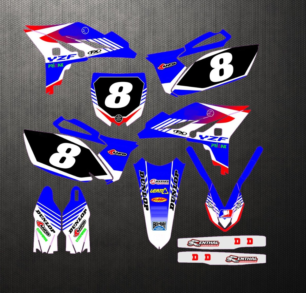 Motorcycle Graphics Decals Stickers For Yamaha YZ250F YZF250 2010 2013 YZF 250 YZ 250F 2010 2011