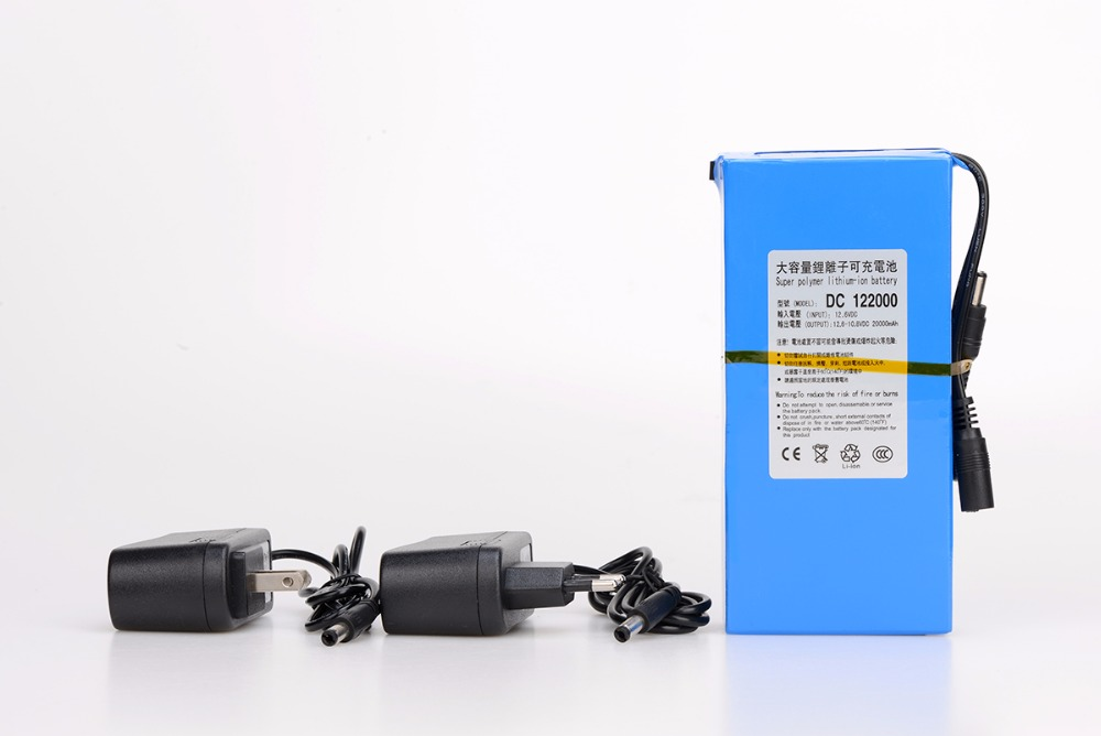 Masterfire dc 12v 20000mah Высокая емкость перезаряжаемый литий