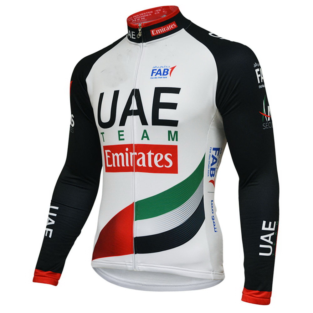 Winter Fleece Thermal Long Cycling Jerseys 2018 UAE TEAM Emirates Mtb Long  Sleeve Men Bike Wear Cycling Clothing d9380040e