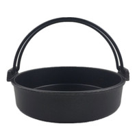 original Cast iron Japanese stainless steel steak hang pot wok stew fry beef pot Japanese soup pot hot stew iron pot with ear