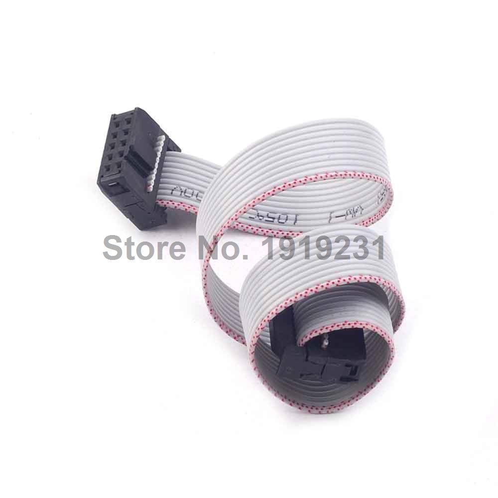 цена на 1PCS 30CM 10 Pin USB ASP ISP JTAG AVR wire 10P IDC Flat Ribbon DATA Cable 2.54mm