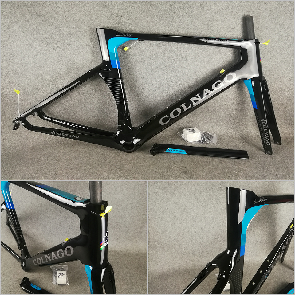 Carbon-Road-Frame Bicycle-Frameset Concept T1000 Blue Black UD Gloss with BB386 L/XL