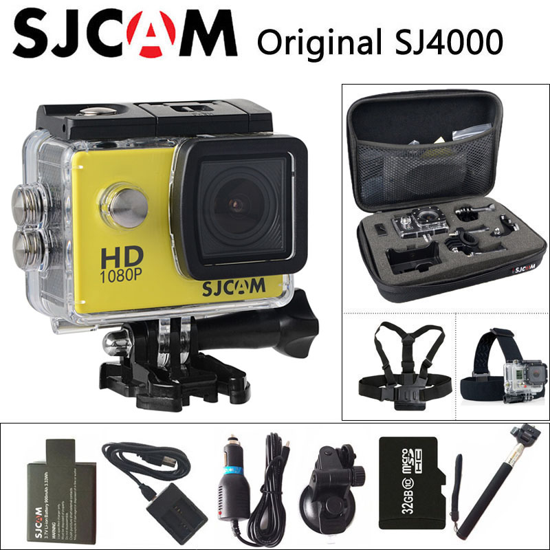 цена на SJCAM SJ4000 Action Camera Sports DV 1080P Full HD 2.0 inch Screen Diving 30m Waterproof mini Camcorder Original SJ 4000 Cam