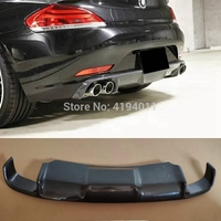 MONTFORD Car Accessories Carbon Fiber Rear Diffuser Bumper Guard Protector Skid Plate Bumper Cover For BMW E89 Z4 2009 2013 1Pcs