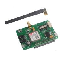 RCmall Raspberry PI SIM800 GSM GPRS Add on V2.3 para Raspberry PI 3 Modelo B +, módulo de banda cuádruple GSM/GPRS/BT FZ1817