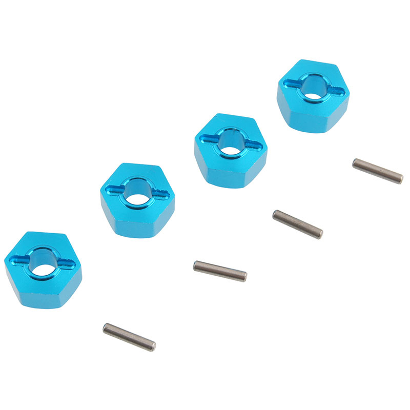 ABWE Best Sale Blue SLA016 Aluminum Alloy Wheel Hub Hex 12x7mm Mount and Pin Upgrade Parts for TRAXXAS SLASH 4X4 & HQ727 Short 1 10 traxxas slash 4x4 parts 6845x