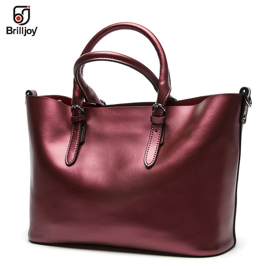 Brilljoy Luxury Handbags Women Genuine Leather Bag Famous Designer Brands Women Leather Handbags Shoulder Women Messenger Bag e27 e14 rgb bulb lamp ac85 265v 3w 5w 10w 15w rgbw rgbww led spot light dimmable magic rgb bulb with ir remote control 16 colors