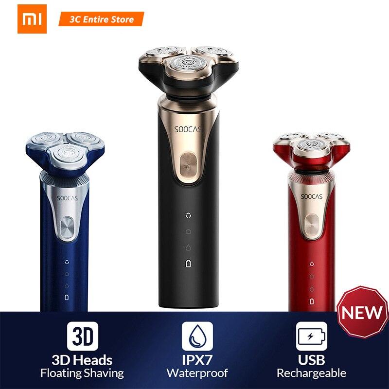 Original Xiaomi Mijia SOOCAS S3 Electric Shaver For Men Rechargeable Washable In Electric Shavers Razor Waterproof Shaver Xiaomi