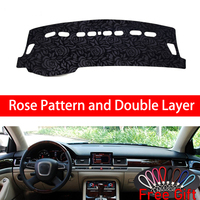 Rose Pattern For AUDI A8 2004 2005 2006 2007 2008 2017 Dashboard Cover Car Stickers Car Decoration Car Accessories Car Decals