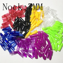 OBAADTF 100 Pcs/lot Cone Archery Arrows Nocks Plastic Outwear Tail Used For OD 7mm Hunting Arrow Wooden Shafts