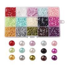4/6/8/10mm a Medias Alrededor de ABS de Acrílico Cabochons para La Joyería de DIY Color Mezclado Imitación perlas para La Joyería Que Hace DIY