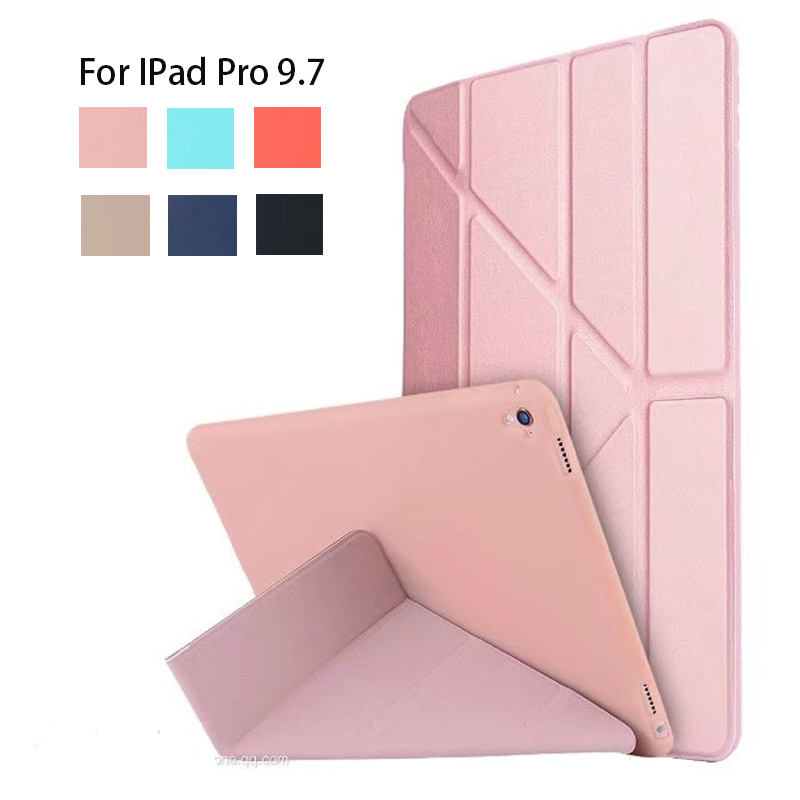 Smart Cover Case for New iPad Pro 9.7 2016 Case PU Leather Foldable Flip Tablet Cover for iPad Pro 9.7 inch Magnet