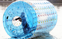 Inflatable Roller Cylinder Water Zorbing Walking Balls Water Game Sports Toy