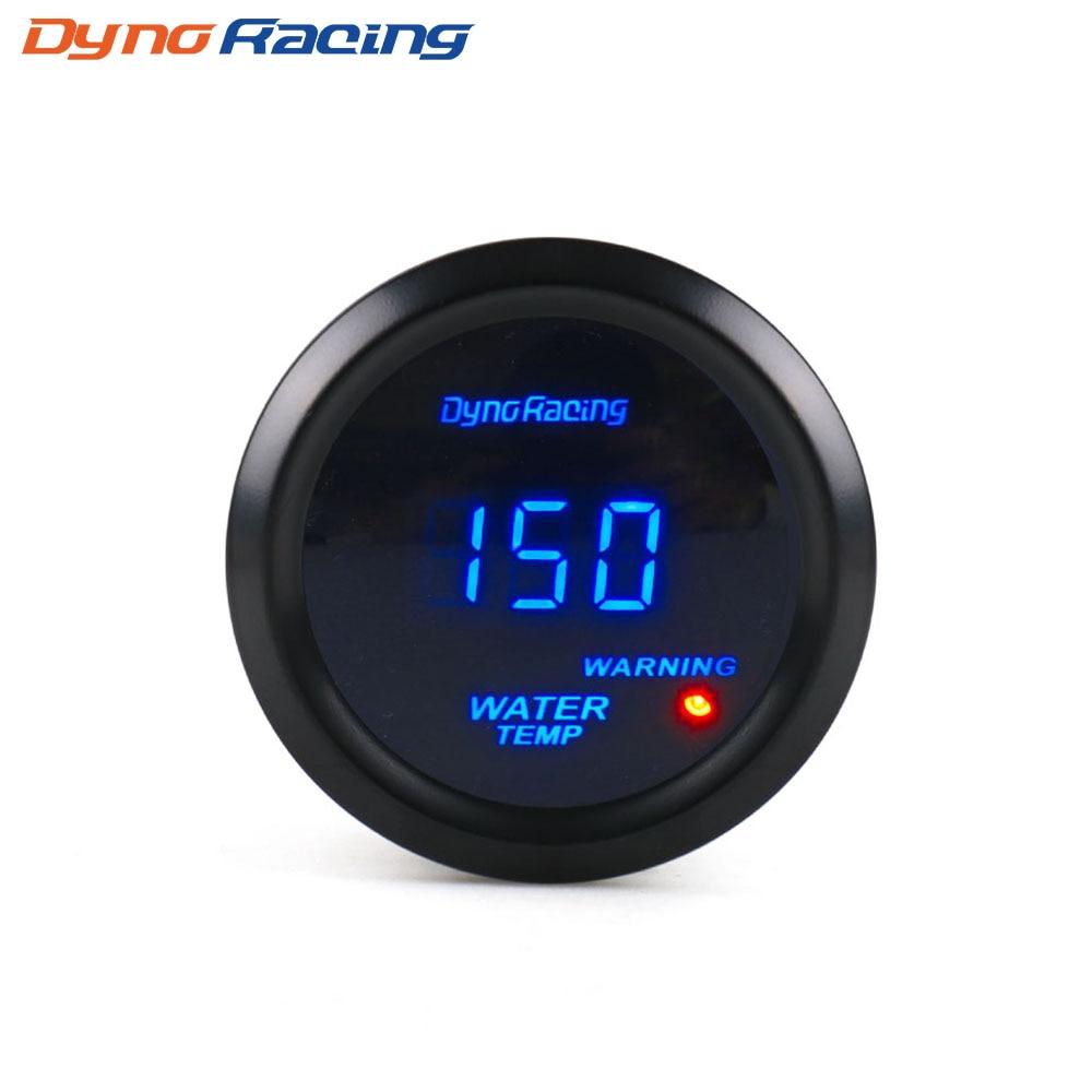 Dynoracing Water Temp gauge 2 52mm Digital Water temperature gauge Blue led Car gauge car meter with sensor BX101462Dynoracing Water Temp gauge 2 52mm Digital Water temperature gauge Blue led Car gauge car meter with sensor BX101462