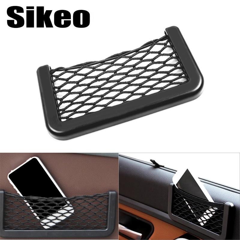 Bag Universal Car Storage Organizer Phone Storage Net for Purse Seat Side Back Pocket