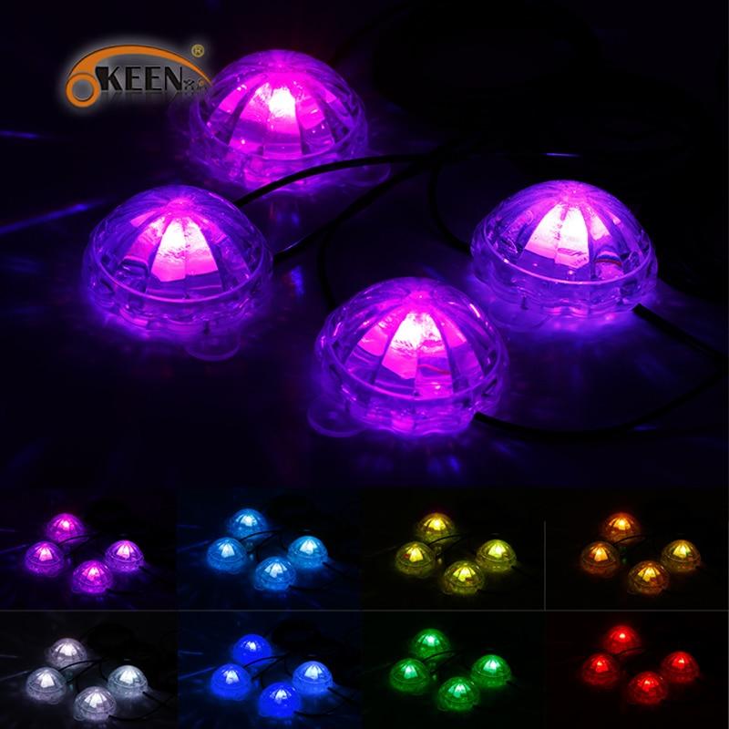 Okeen 4 * pcs glow kit led auto rgb licht 12 v onder auto underbody ...