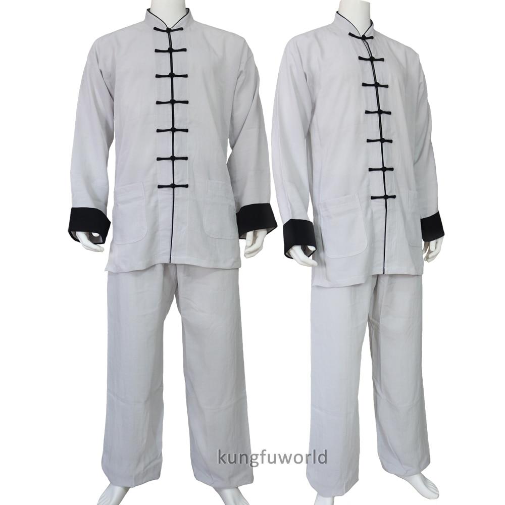 24 Colors Linen Tai Chi Uniform Wushu Martial Arts Kung Fu Nanquan Wing Chun Wudang Changquan Suit
