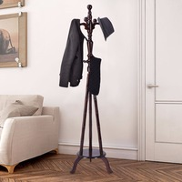 Giantex 73 Free Standing Solid Wood Coat Hat Purse Hanger Tree Stand Rack Furniture New Home Furniture HW54008