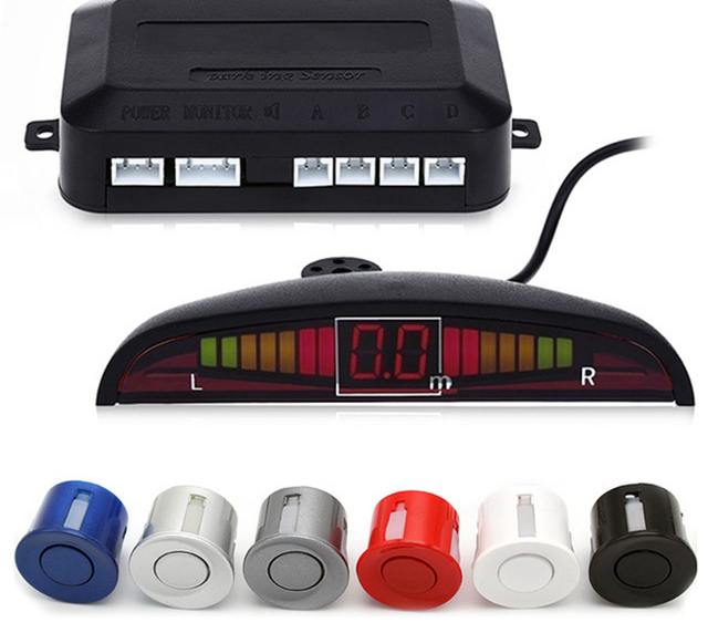 Car-Parking-Sensor Radar-Buzzer-Alarm Monitor-System Rear-Assistance-Backup Reverse Auto
