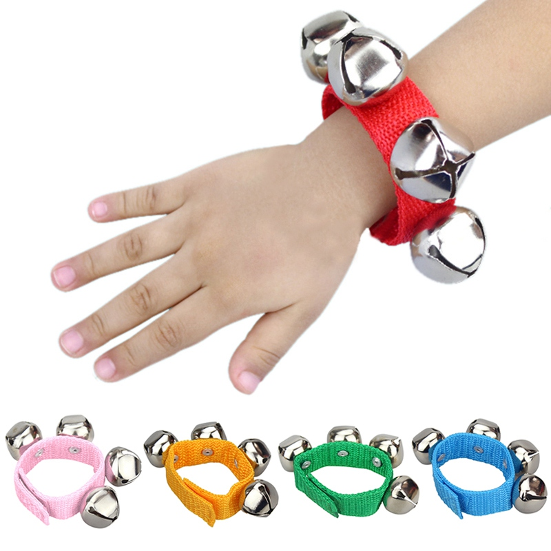Retail Kids Musical Toy Baby Hand Wrist Bell Jingles Shake Percussion Instrument Kids Percussion Paternity Toys