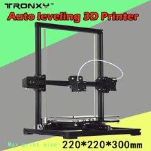 Tronxy Новинка 2017 года алюминия Структура 3D DIY принтер Prusa i3 3D принтер комплект с подогревом 1 рулон нити 8 ГБ SD карта в подарок