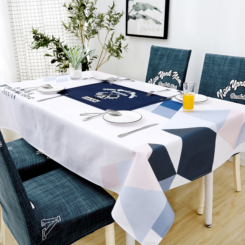 Image 2 - Parkshin Nordic Decorative Tablecloth Home Kitchen Rectangle Waterproof Table Cloths Party Banquet Dining Table Cover 4 Size-in Tablecloths from Home & Garden