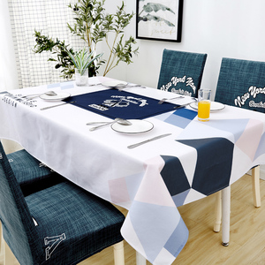 Image 2 - Parkshin Nordic Decorative Tablecloth Home Kitchen Rectangle Waterproof Table Cloths Party Banquet Dining Table Cover 4 Size