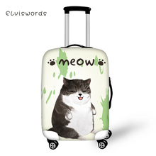 ELVISWORDS Cute Cats Patterns Travel Luggage Protective Covers Anti-dust Elastic 18-28inch Waterproof Trolley Suitcase Cover